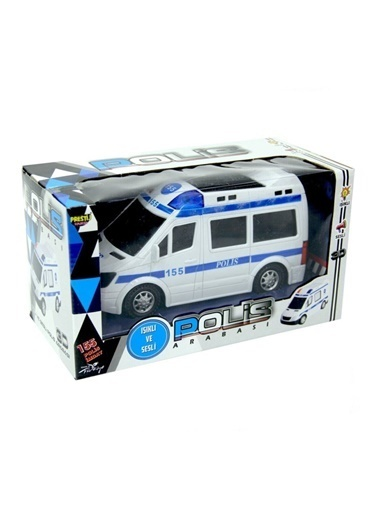 Prestij Oyuncak Pilli Işıklı Çarp Dön Sesli 155 Polis Ekip Oyuncak Arabası  Renkli